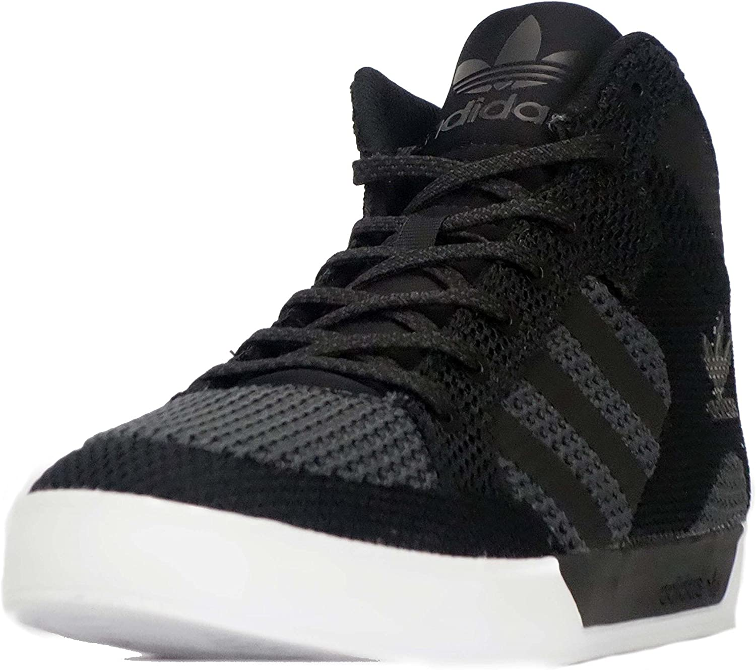 till salu grossistpris populära butiker adidas Originals Hardcourt Hi Knit Men's Shoes (UK 8) Black/Black ...