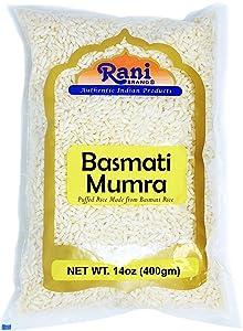 Rani Basmati Mamra (Puffed Rice) 14oz (400g) ~ All Natural, Indian Origin   No Color   Gluten Free Ingredients   Vegan   NON-GMO   No Salt or fillers