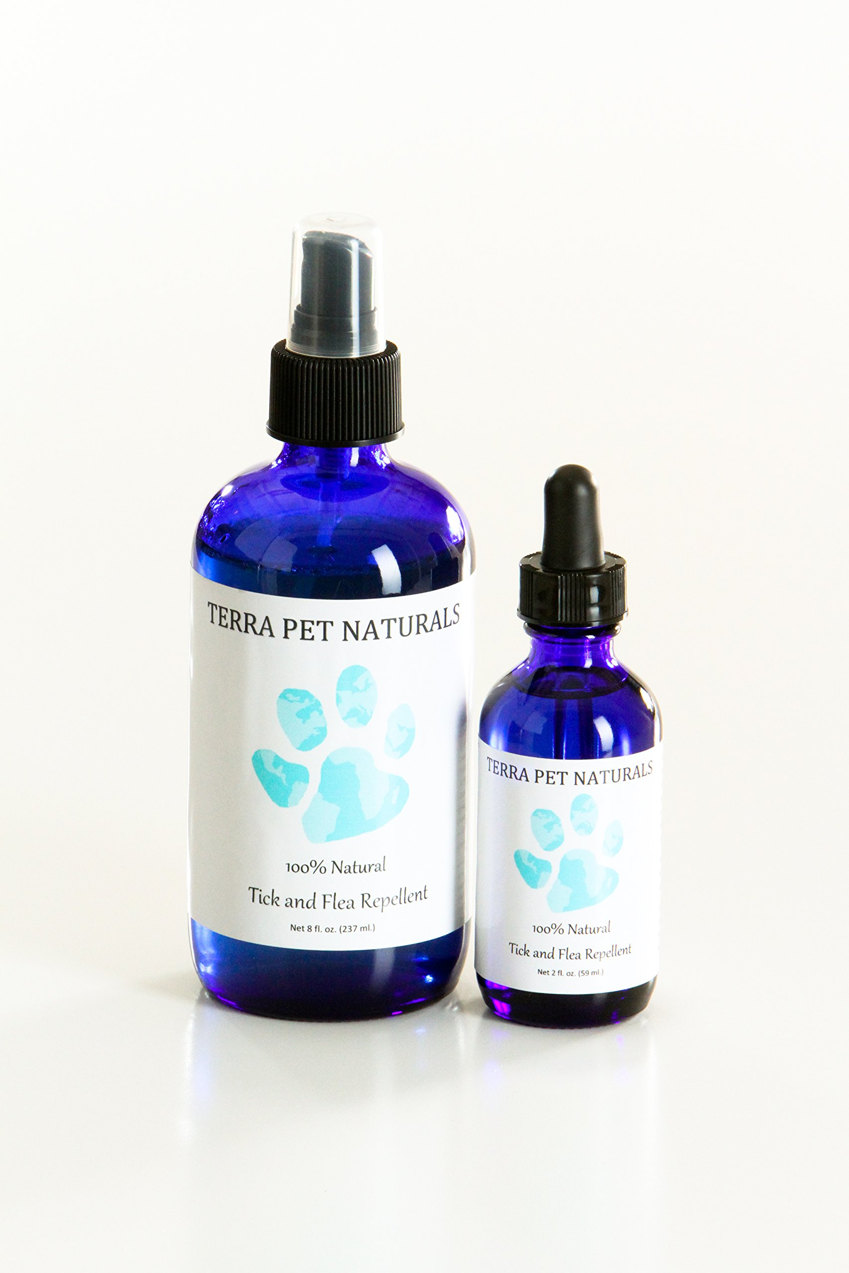 100% Natural Flea and Tick Repellent Spray and Topical Treatment Drops for Dogs for Flea and Tick Prevention and Control. Made with all-natural and organic ingredients.