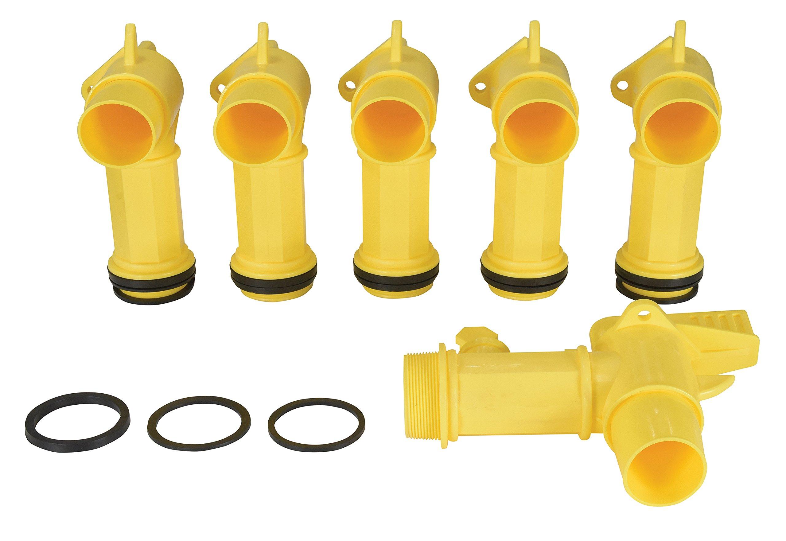 """Fits 2/"""" Drum Openings Vestil JDFT Plastic Manual Handle Jumbo Drum Faucet"""