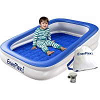 EnerPlex Kids Inflatable Toddler Travel Bed with High Speed Pump