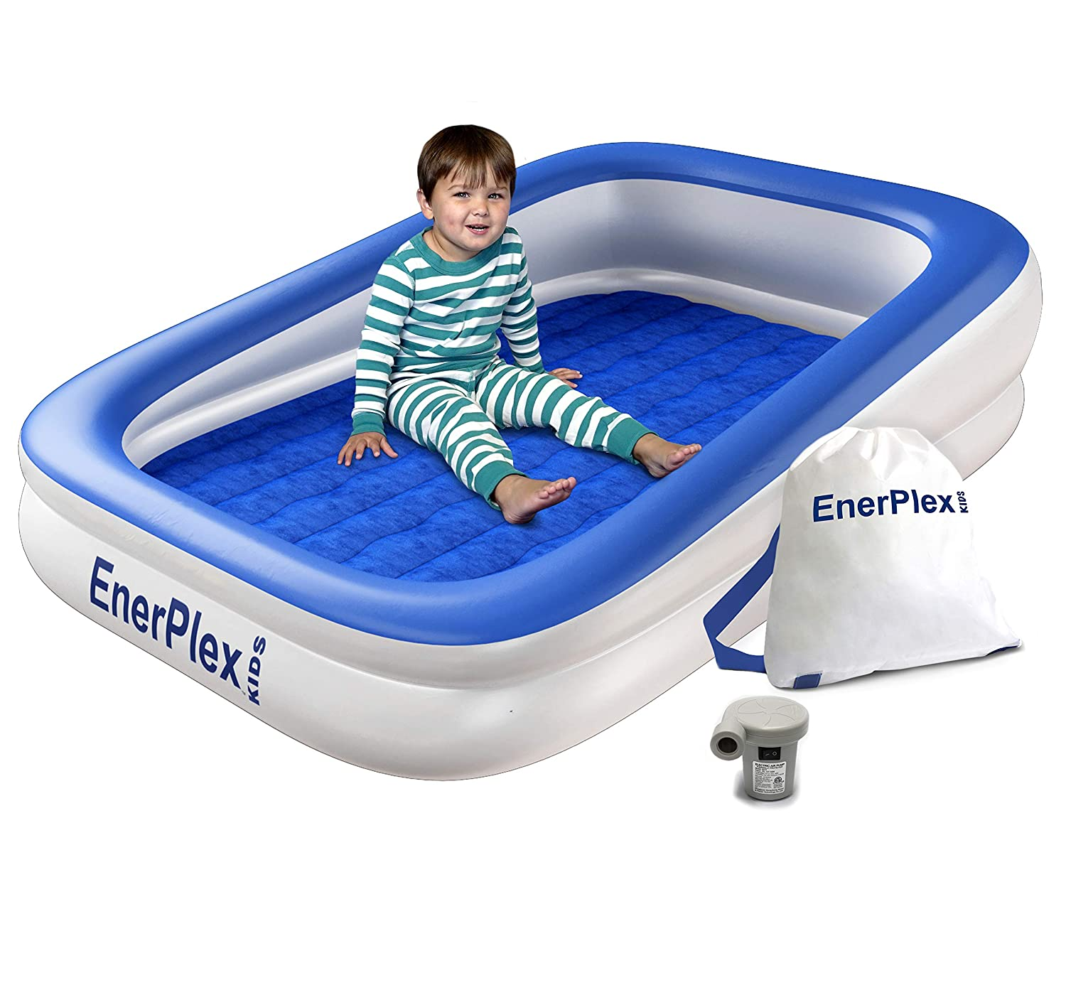 Toddler Bed Air Mattress.Enerplex Kids Inflatable Toddler Travel Bed With High Speed Pump Portable Air Mattress For Kids Blow Up Mattress With Sides Built In Safety Bumper