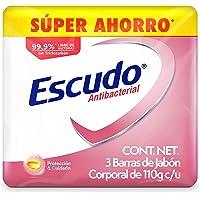 Escudo Antibacterial, Jabón de Tocador Protección con Vitamina E, 3 barras de 110gr
