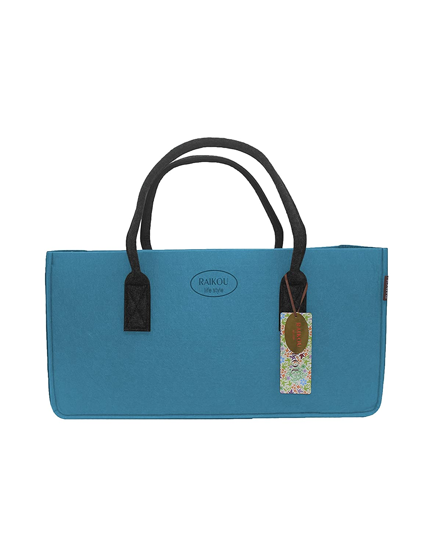 raikou® Kult grandes bolso bolsa de la compra, Juguete Jardín Beach, leña, fieltro, el periódico cesta de la compra, cesta para la colada, chimenea funda, para botella de cesta, Jardín, cesta de picnic, Verde DESEN