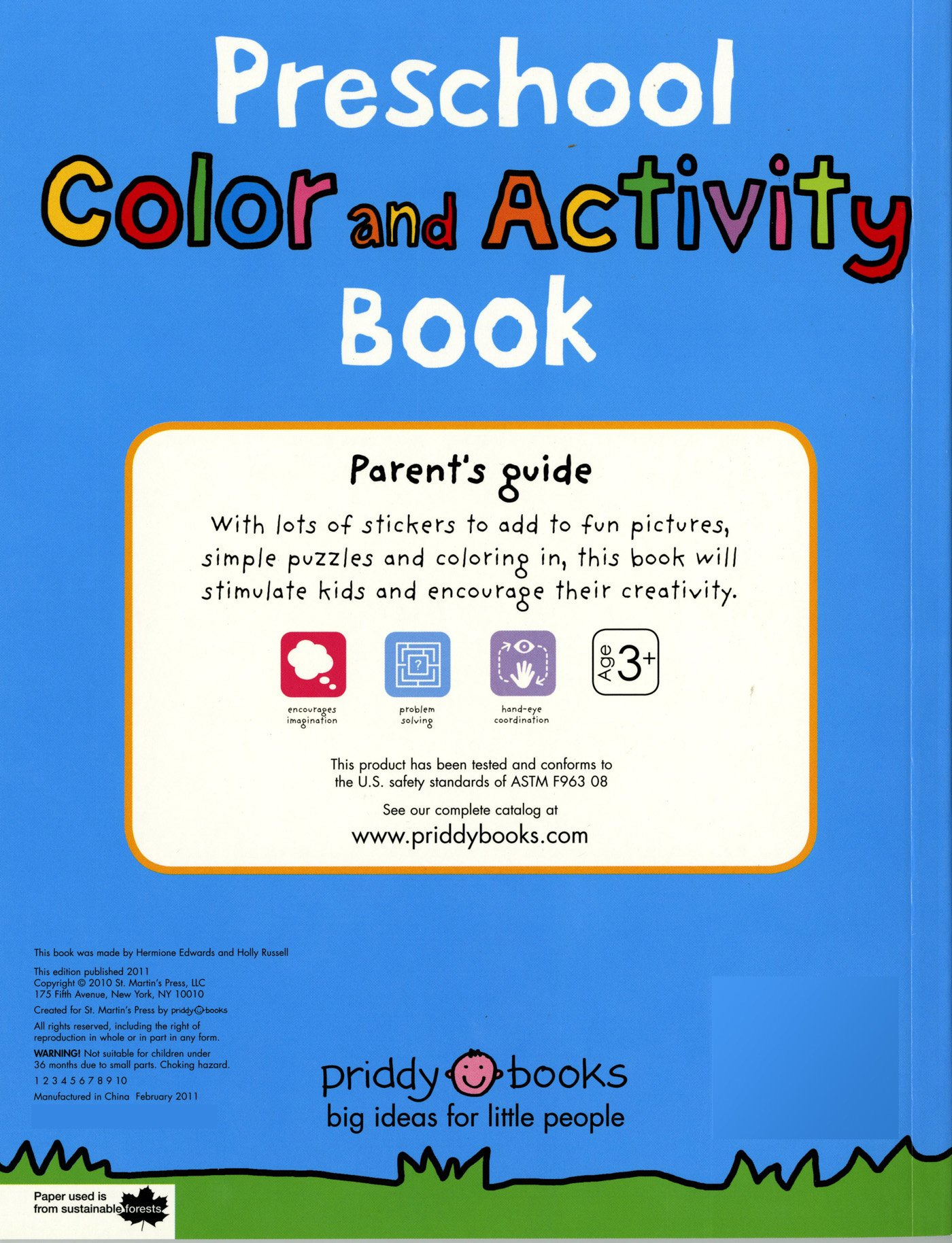 Preschool Color & Activity Book: Roger Priddy: 9780312513177: Amazon ...