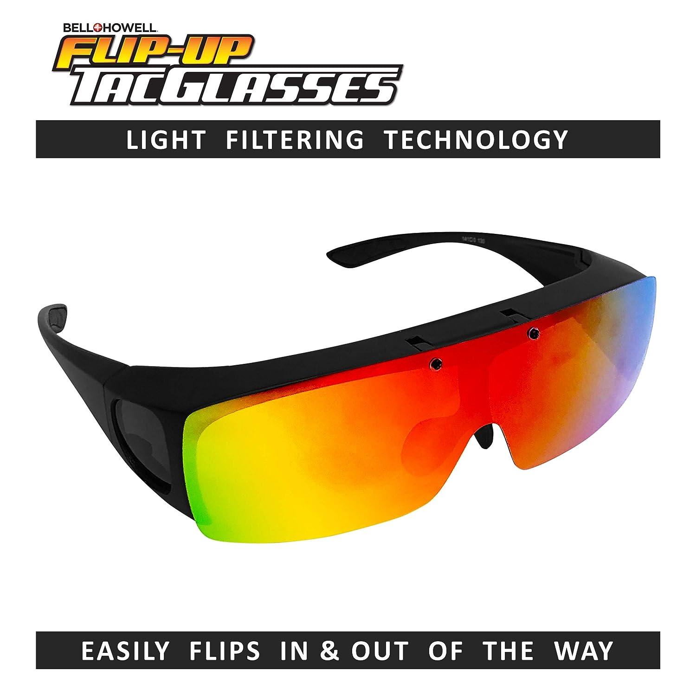 bfae770d6cd9 Amazon.com  Bell + Howell TAC FLIP UP Polarized Sun Glasses As Seen On TV   Clothing