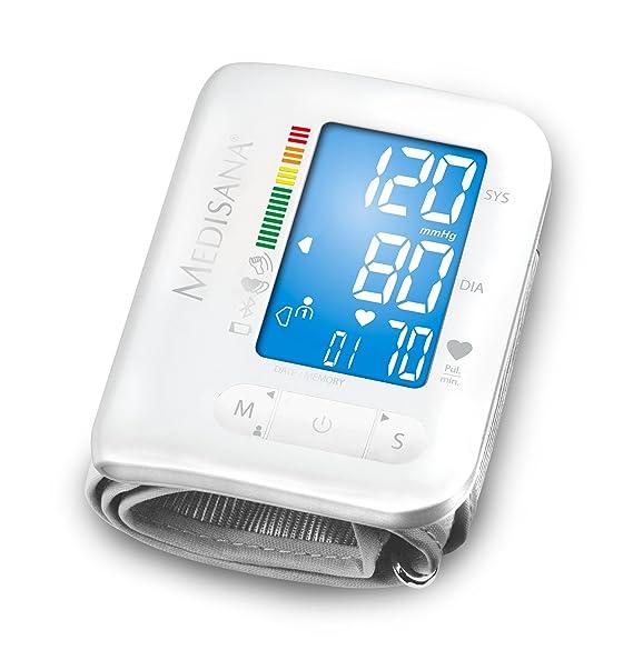 Medisana BW300 Connect, Tensiómetro de Muñeca, con Bluetooth, pantalla LCD, memoria 2x180, indicación arritmias, lectura fácil (letra grande), ...