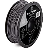 HATCHBOX ABS 3D Printer Filament, Dimensional Accuracy +/- 0.03 mm, 1 kg Spool, 1.75 mm, Silver