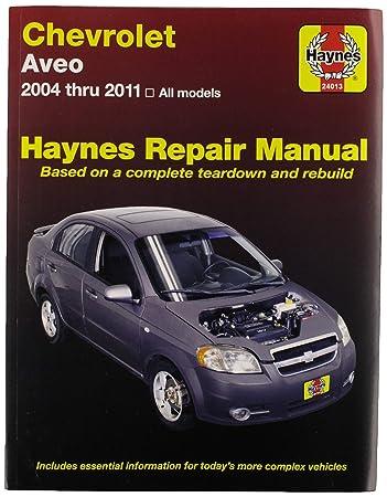 2004-2011 chevrolet aveo haynes repair service workshop shop.