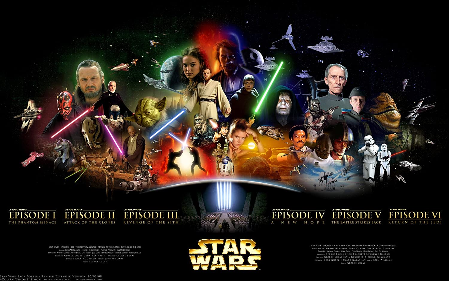Star Wars Episodes One To Six