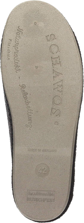 ohne Marke Mens-Pantolette grau 9