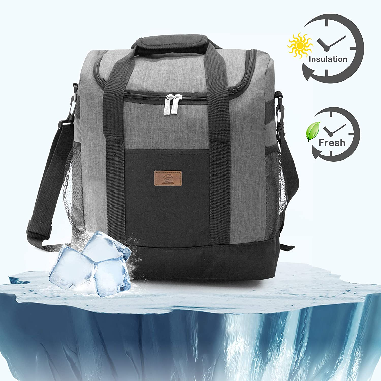 25L Azul Bolsa Isot/érmica Grande Para Almuerzo Comida Bebidas Decocasa Mochila T/érmica Porta Alimentos 25 Litros