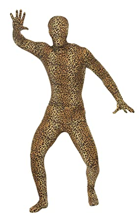 Smiffys - Disfraz de leopardo (pegado al cuerpo) para hombre, talla UK 42 (24283L)