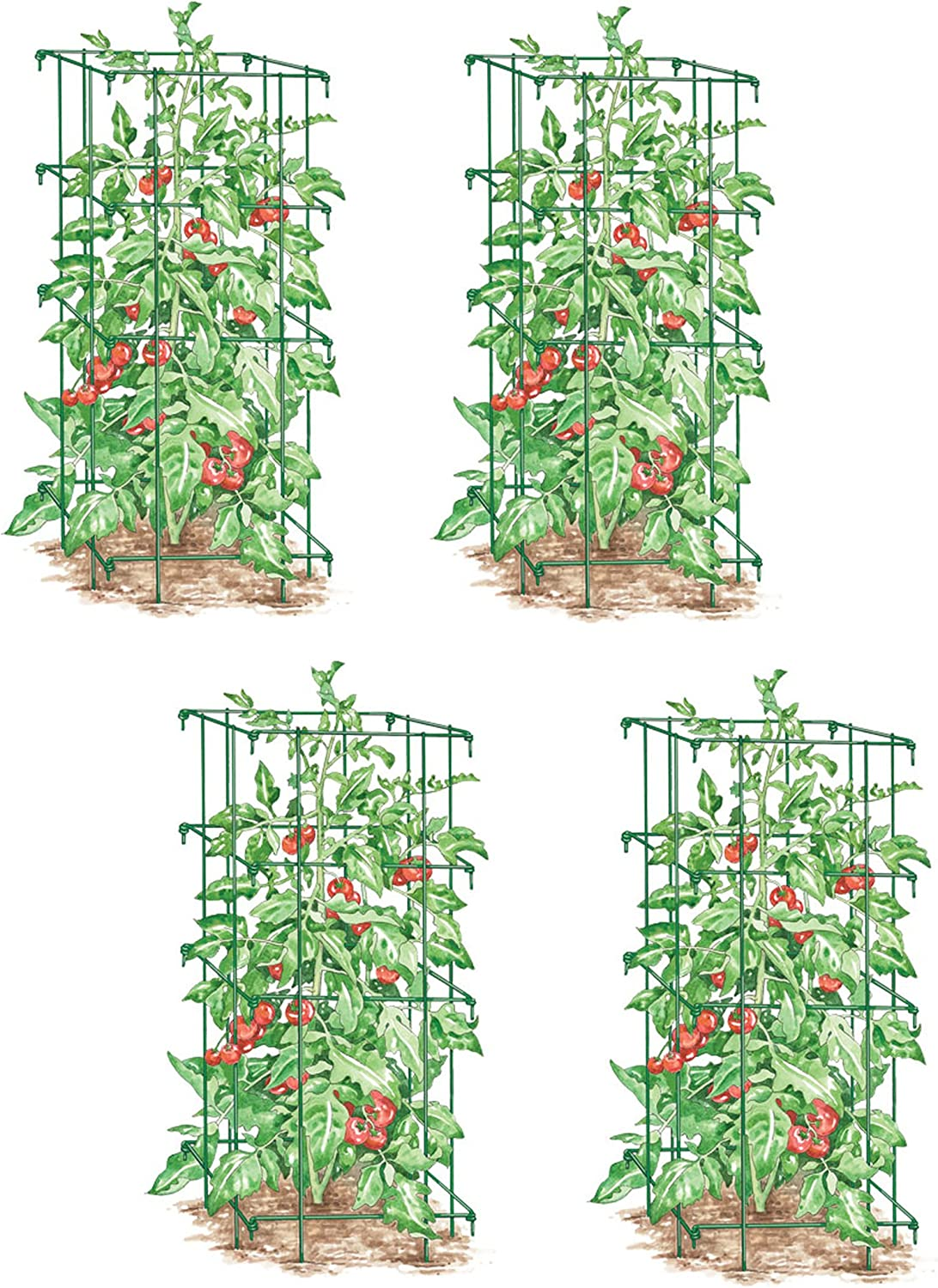 Gardener s Supply Company Lifetime Tomato Cages, Heavy Gauge, Set of 4