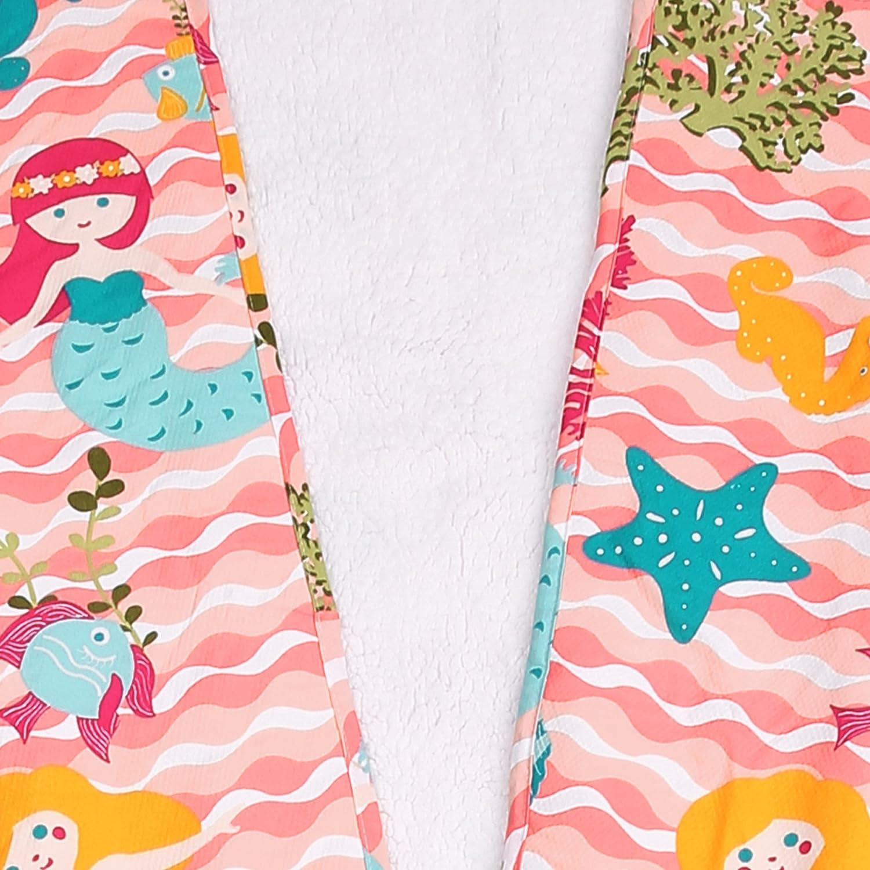 Lush Decor Mermaid Waves Sherpa Throw 30 x 75 Pink