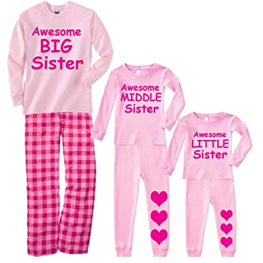 21e4afc475 Amazon.com  Footsteps Clothing Awesome Big Middle Or Little Sister ...