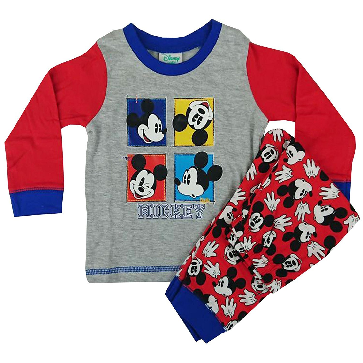 Baby Boys Mickey Mouse Long Length Pyjama Set 6 to 24 Months (9-12 Months) 27525