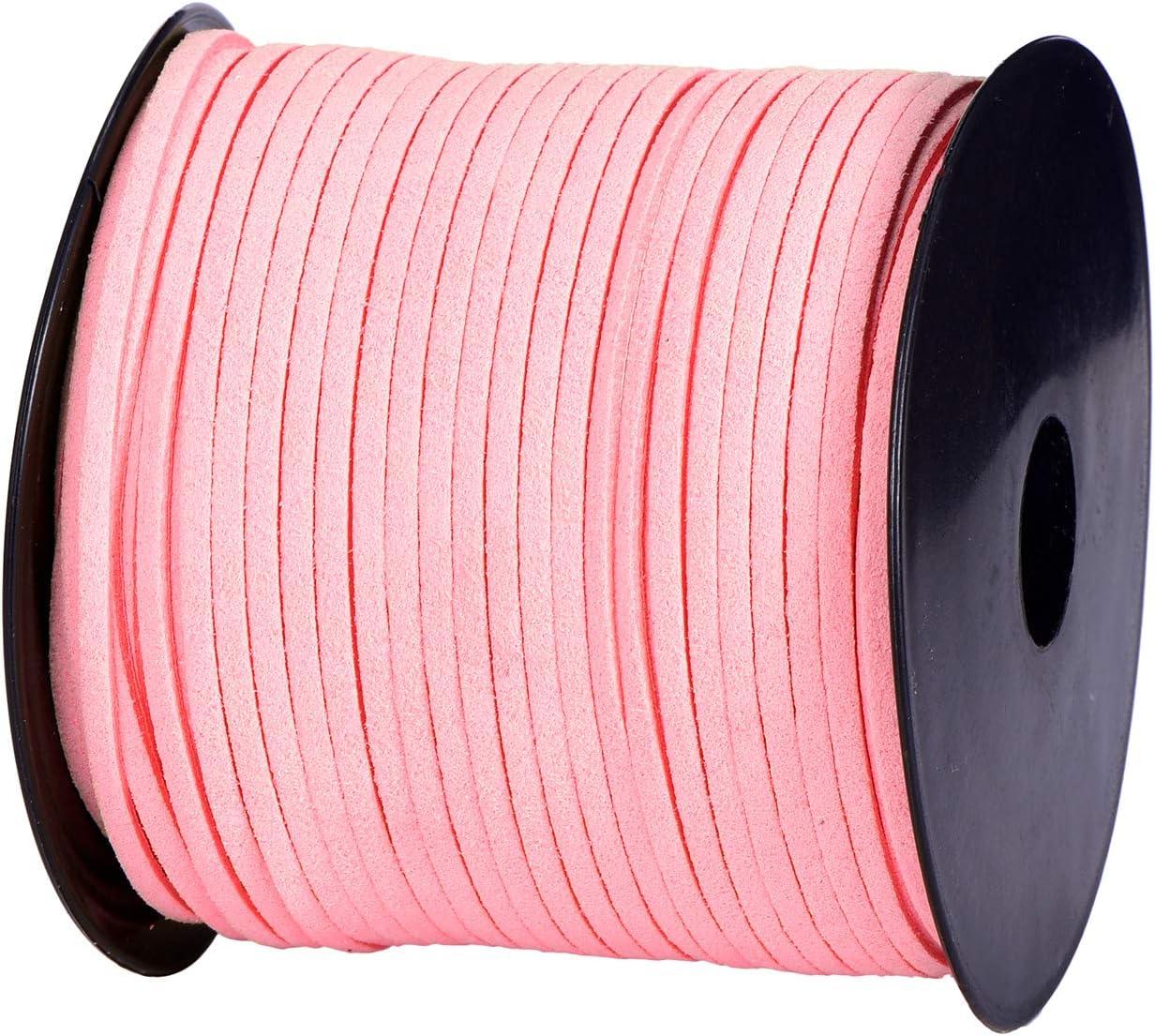 Pink DonDon Veloursband 3 mm DIY 30 Meter Velours Rolle