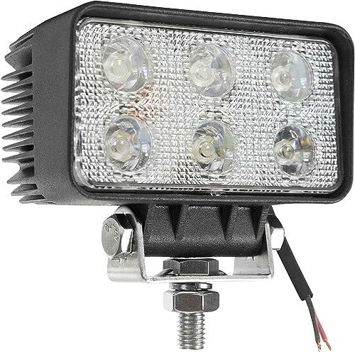 18 Watt LED Flood Light – 1400 Lumens – Six 3-Watt LEDs – 10-32 Volt DC – IP67 Waterproof