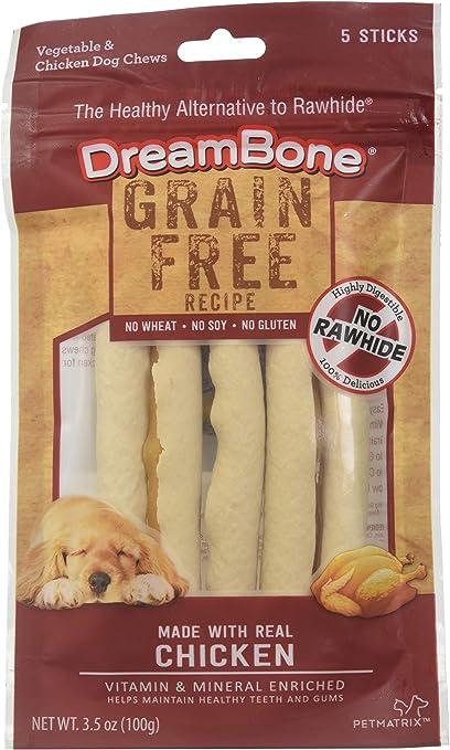 DreamBone Grain Free Recipe Stick Dog Chews, Made with Real Chicken (DBGF-02863)