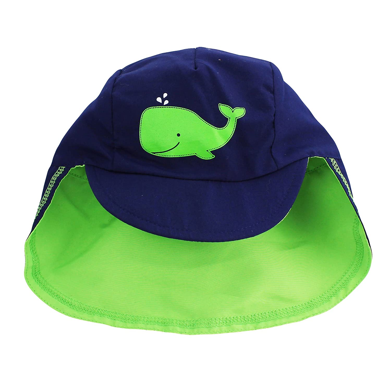 f34bdbfd Amazon.com: Little Me Infant Boys Baseball Brim Covered Neck Flap Sun Hat  Navy Green 12-24M: Baby