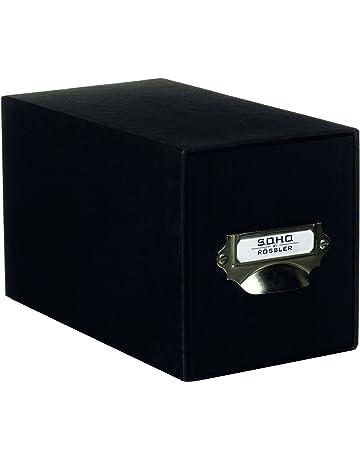 Rössler SOHO - Archivador para CD (compartimento metálico para etiqueta), color negro