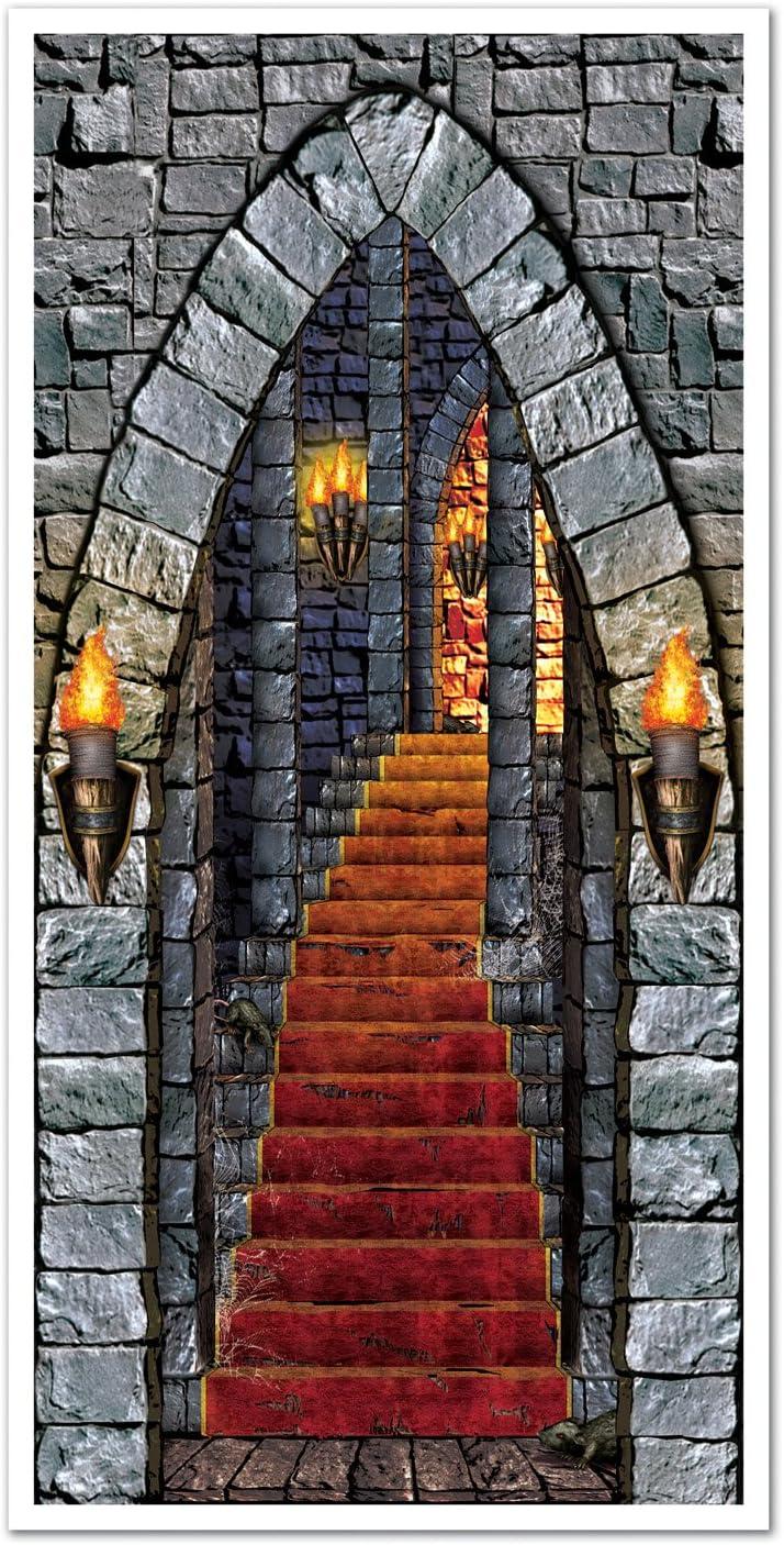 Castle Entrance Door Cover Party Accessory (1 count) (1/Pkg)