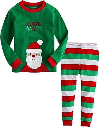 """Vaenait Baby Kids Boys Girls Christmas Clothes Pajama Set /""""I Love Santa/"""" 12M-7T"""