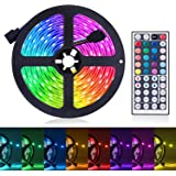 Led Strip Lights, JR INTL 16.4ft/5M RGB LED Light Strip 5050 LED Tape Lights, Color Changing LED Strip Lights with…