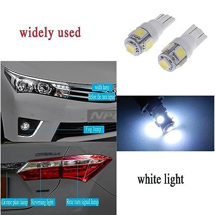 Bombillas para coche superbrillantes 10 x T10 T15 5-SMD LED blancas de LED 906 579 901 904 908 909 912 914 915 916 917 918 920 921 922 923 926 927 928 939 ...