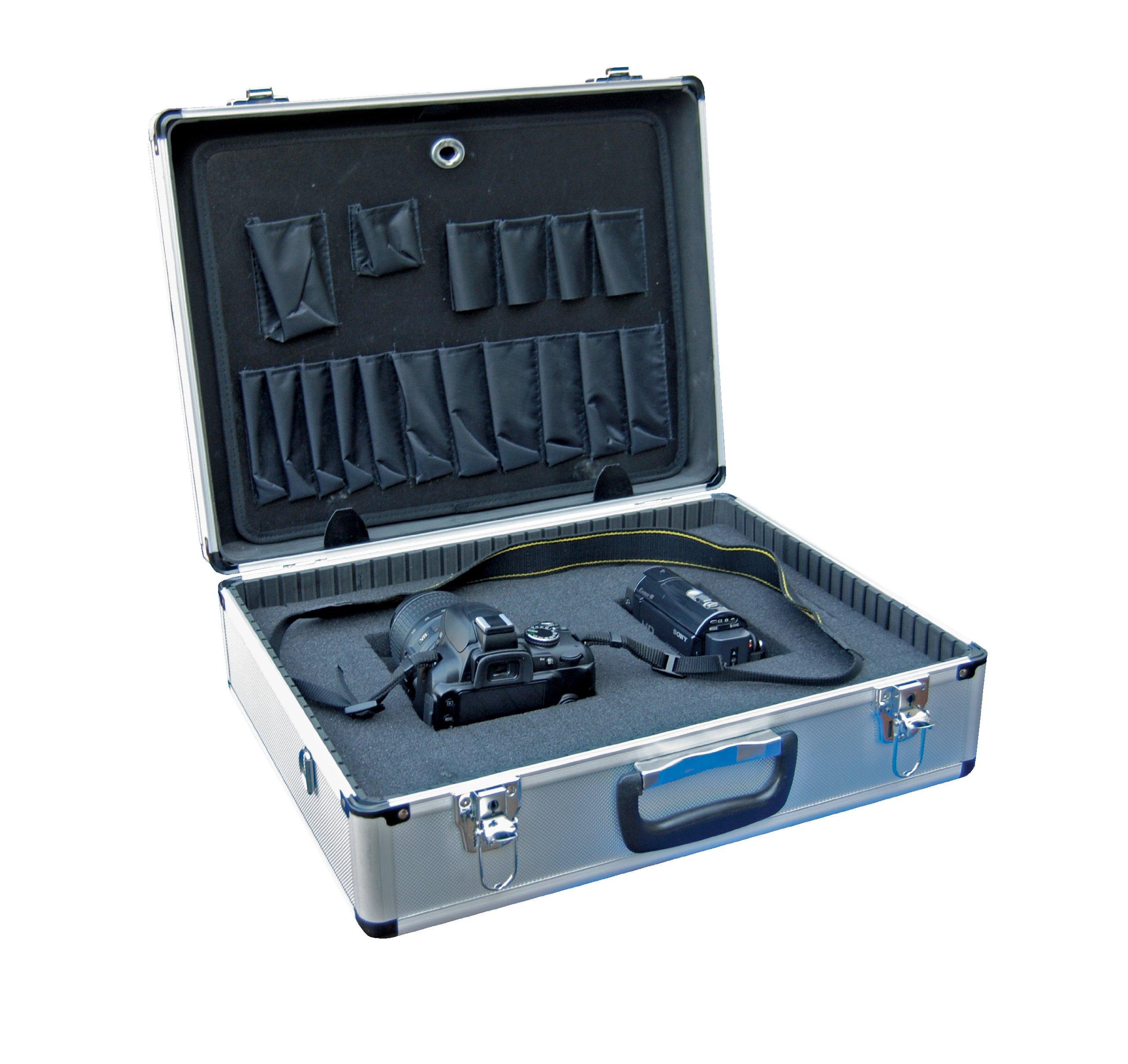 Vestil CASE-1814-FM Aluminum Tool Case - Foam Insert, 14'' Length X 18'' Width X 6'' Height, 6 lbs. by Vestil (Image #4)