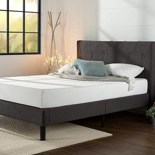 ZINUS Shalini Upholstered Platform Bed Frame / Mattress Foundation / Wood Slat Support / No Box Spring Needed / Easy Assembly