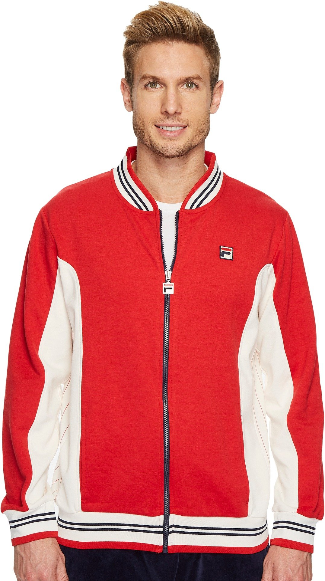 Fila Men's Settanta Jackets, Chinese Red, XL