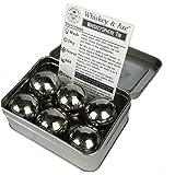 Whiskey & Axe - Premium Set of 6 Stainless Steel Ice Spheres - Chills Better than Whisky Stones - WhiskeySphere Tin