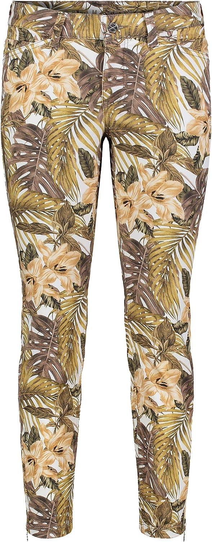 MAC Jeans Damen Hose Dream CHIC blautöne Nut Beige Printed