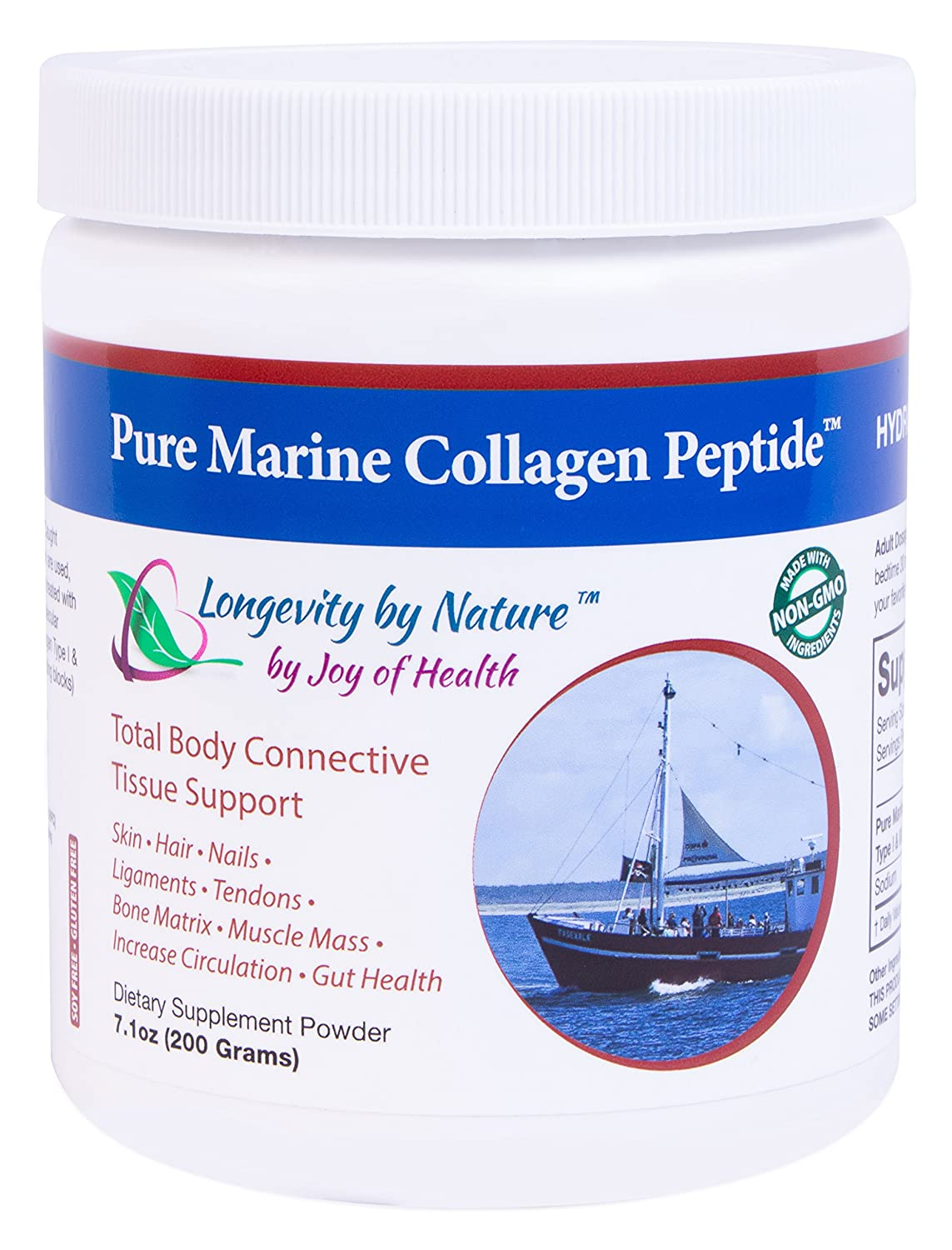 Pure Marine Collagen Peptide Powder 200 Grams by Certified ...