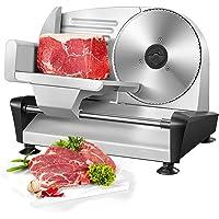 Elektrische broodsnijmachine - voedselsnijmachine & worstsnijder met 19 cm roestvrijstalen messen, verstelbare…