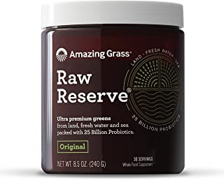 product image for Amazing Grass Raw Reserve: Ultra Premium Greens and Probiotics, 2.5 Servings of Greens per Scoop, Original Flavor, 30 Servings, 8.5 oz