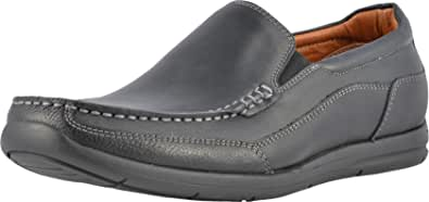 Vionic Men's Astor Preston Slip-on Loafer - Dress or Casual - Leather Loafers for Men with Concealed Orthotic Support