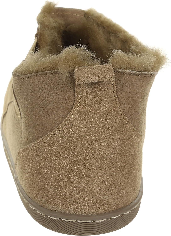 Vogar Mens Sheepskin Leather Slipper Boots VG-35 Sheep Wool Lined