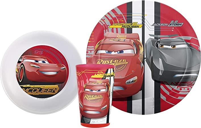 Xmas Stocking Filler//Birthday Zak Designs Smiley World Kids Plate//Bowl//Mug Set