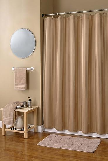 Amazon.com: Damask Stripe Shower Curtain, Burgundy: Home & Kitchen