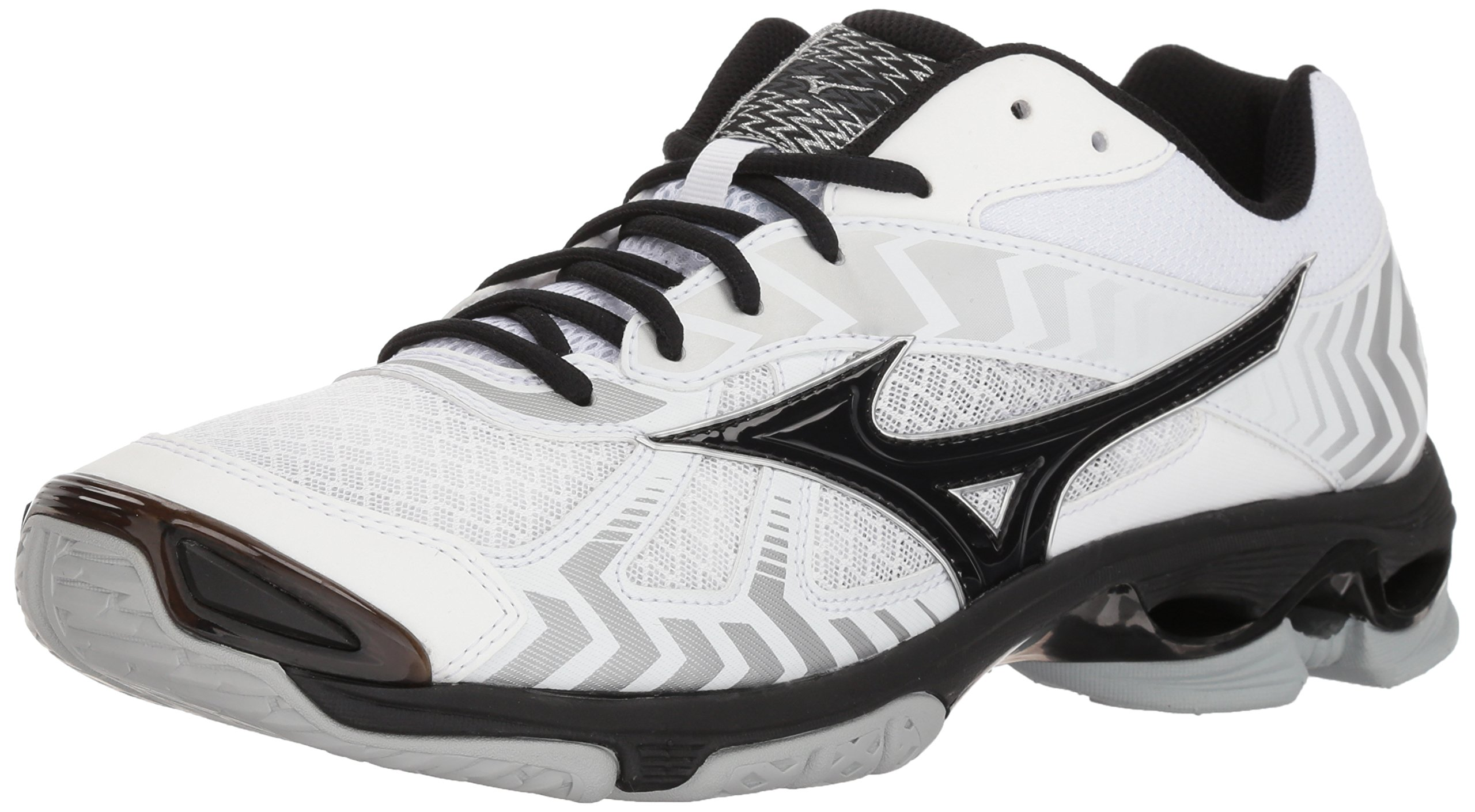 Mizuno Men's Wave Bolt 7 Volleyball Shoe, White/Black, Men's 16 D US