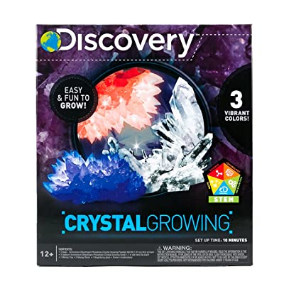Discovery Crystal Growing Kit by Horizon Group Usa, DIY STEM Science, Make Your Own 3 Colorful Crystals: Toys & Games