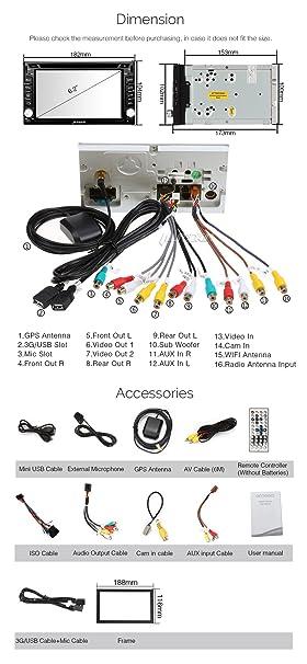 81BFoH3M2lL._SY606_ amazon com pumpkin 6 2\u201d android 5 1 car radio stereo bluetooth panlelo wiring diagram at creativeand.co