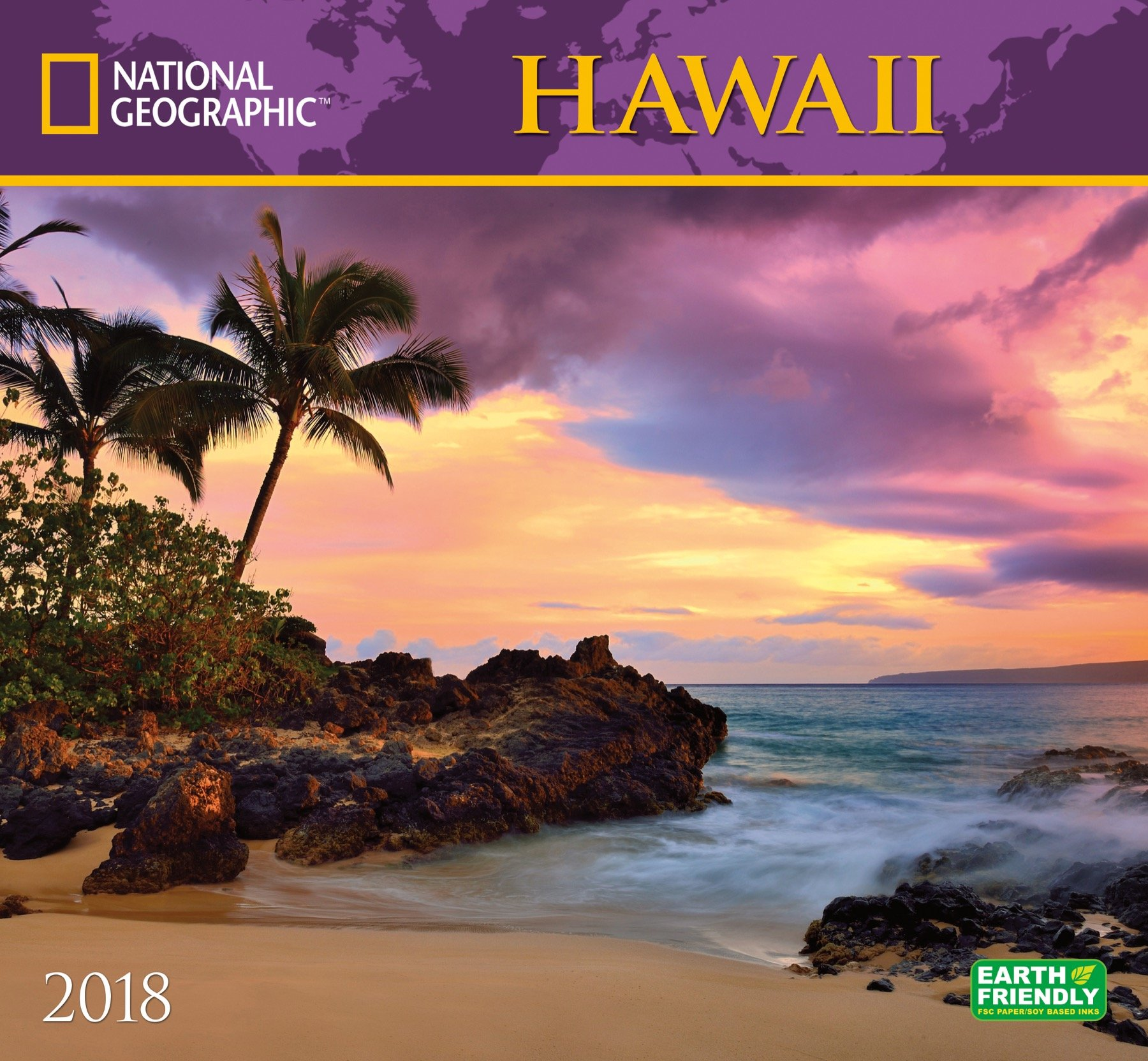best sneakers 02787 81d3d National Geographic Hawaii 2018 Wall Calendar  National Geographic Society   9781772181272  Amazon.com  Books
