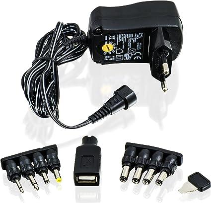 CSL - Fuente de alimentación Universal 3 4,5 5 6 7,5 9 y 12V CA CC ...