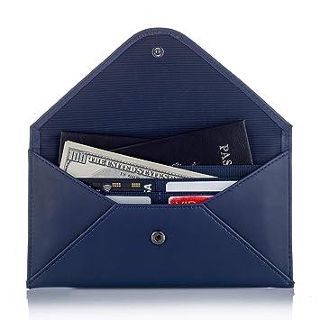 Women s Wallet RFID Ultra Thin Travel Wallet   Passport Wallet Holder  Multiple Real Leather Envelope Purse 2d63632670