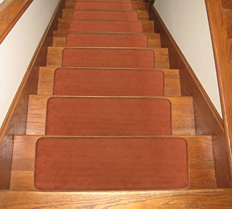 Soloom Carpet Stair Treads Indoor Set Of 13 Non Slip Stair Rugs/Covers  Rubber Backing