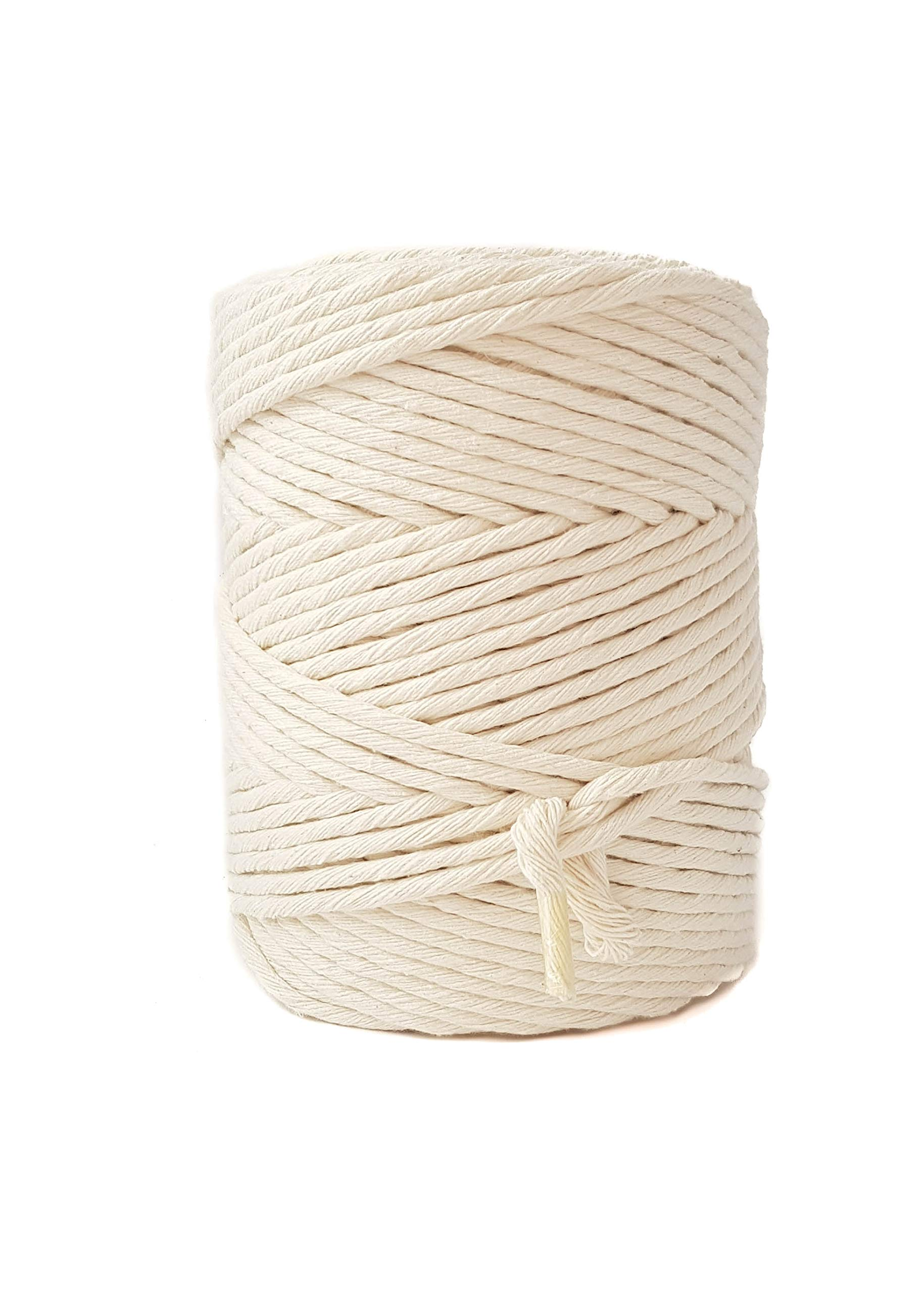 Single Strand Cotton Cord 4mm Macrame Cord 590 feet Macrame Rope for DIY Crafts by MB Cordas (Image #2)